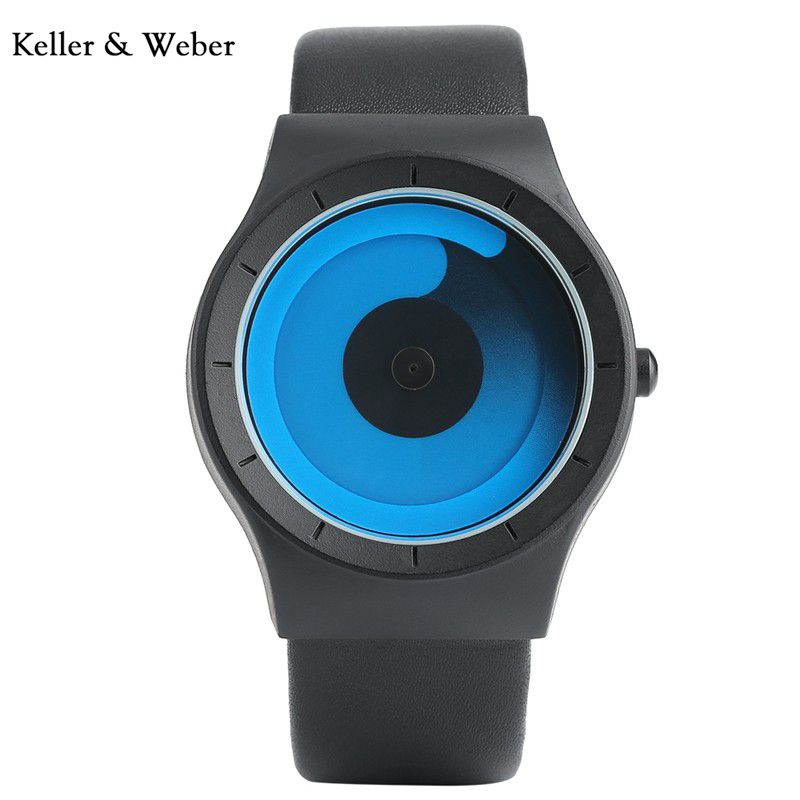 KW New Arrival Male Turntable Dial Pilot with Leather Strap Quartz Movement Luxury Wrist Watch Aviator Sport Watches