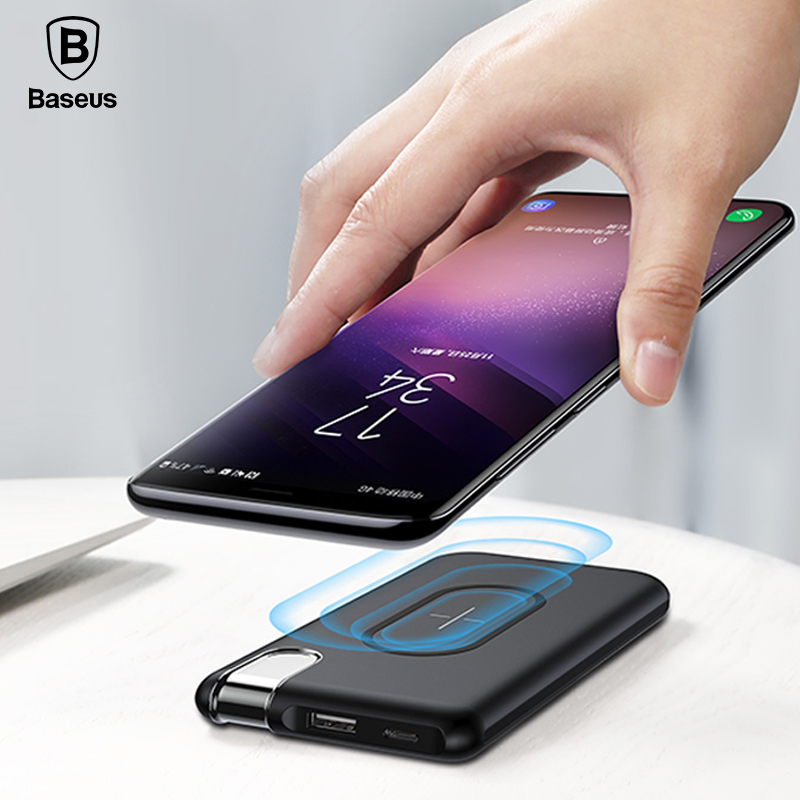 Baseus QI Wireless Charger Power Bank Per iPhone X 8 Samsung S9 S8 S7 Poverbank 10000 mAh Wirless Ricarica Powerbank Batteria pacchetto