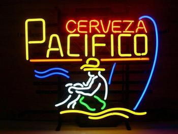 Custom Made Cerveza Pacifico Glass Neon Light Sign Beer Bar