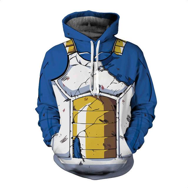 3D Dragon Ball Naruto Pocket Hooded Sweatshirts  1