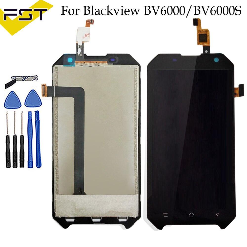 4.7 pouce LCD Pour Blackview BV6000 LCD Display + Écran Tactile 100% Testé Écran Digitizer Assemblée Remplacement BV6000S