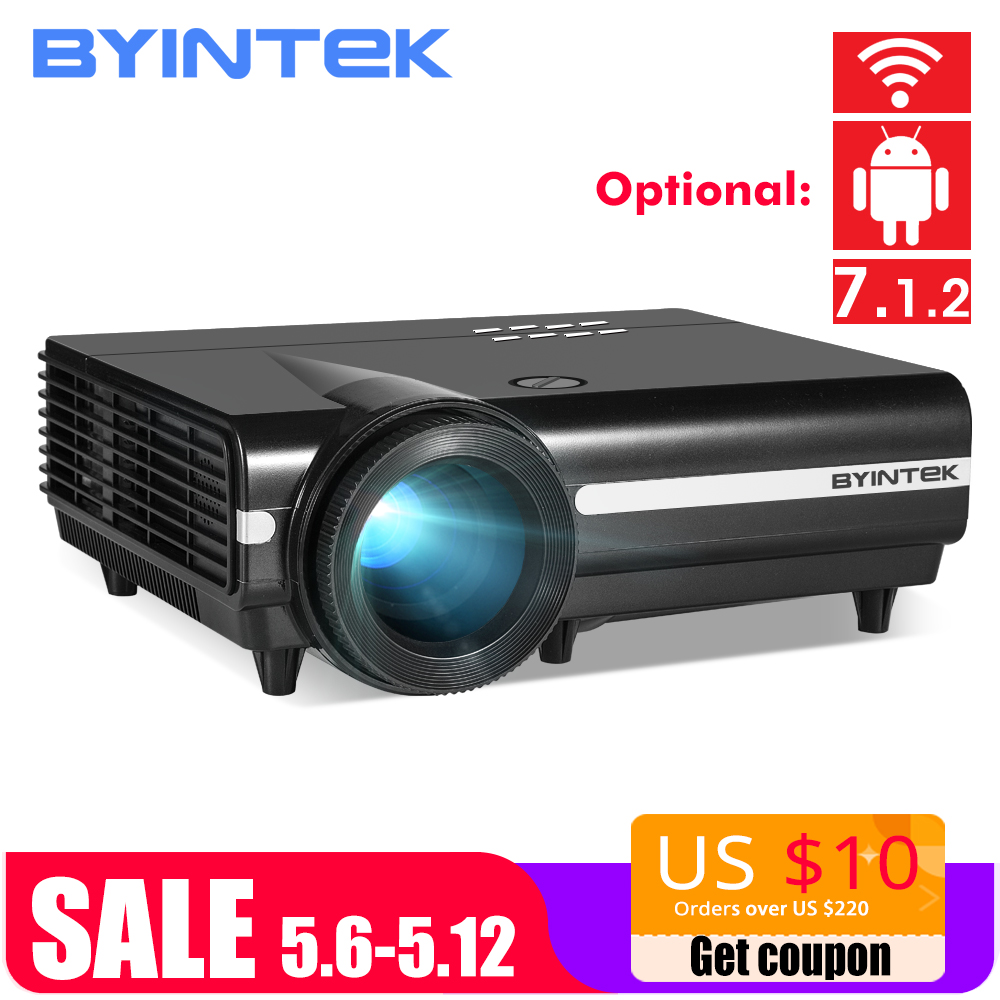 BYINTEK MOON BT96Plus Android Wifi Smart font b Video b font LED Projector Proyector For Home