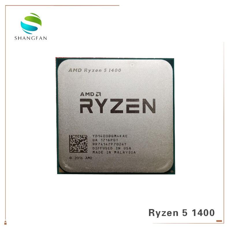 New AMD Ryzen 5 1400 R5 1400 3.2 GHz Quad-Core CPU Processor YD1400BBM4KAE Socket AM4