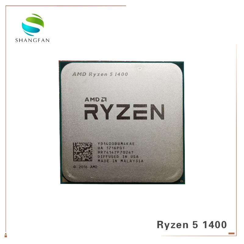 Nuovo AMD Ryzen 5 1400 R5 1400 3.2 GHz Quad-Core CPU Processore YD1400BBM4KAE Presa AM4