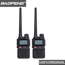 2 stücke 2019 Baofeng UV 3R + Mini Walkie Talkie UV 3R Plus Two Way Radio Woki Toki Kinder Woky Talky ham Radio Comunicador UV3R + Yaesu