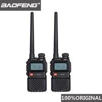 מכשיר הקשר שני 2pcs 2019 Baofeng UV3R + מיני מכשיר הקשר UV 3R פלוס שני הדרך רדיו Woki טוקי ילדים Woky טוקי Ham Radio Comunicador UV3R + Yaesu (1)
