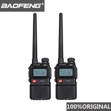 2pcs 2019 Baofeng UV-3R+ Mini Walkie Talkie UV 3R Plus Two Way Radio Woki Toki Kids Woky Talky Ham Comunicador UV3R+ Yaesu