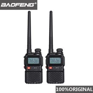 2pcs 2019 Baofeng UV-3R+ Mini Walkie Talkie UV 3R Plus Two Way Radio Woki Toki Kids Woky Talky Ham Radio Comunicador UV3R+ Yaesu