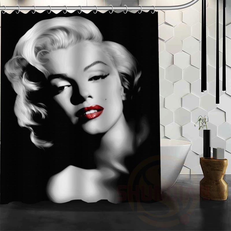 New Marilyn Monroe waterproof fabric bathroom shower curtain for the bathroom bath curtain 60x72
