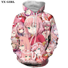 YX Girl Harajuku Women Anime Fashion Hoodie Womens Autumn Tracksuit Long Sleeve Pullover Colorful Sportswear plus size