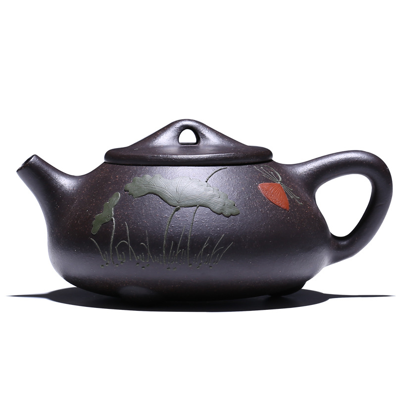 Supreme 240ml Purple Clay teapot Arts,Handmade Yixing Zisha Boccaro Kongfu Pottery Filter Infuser teaset Collection gifts