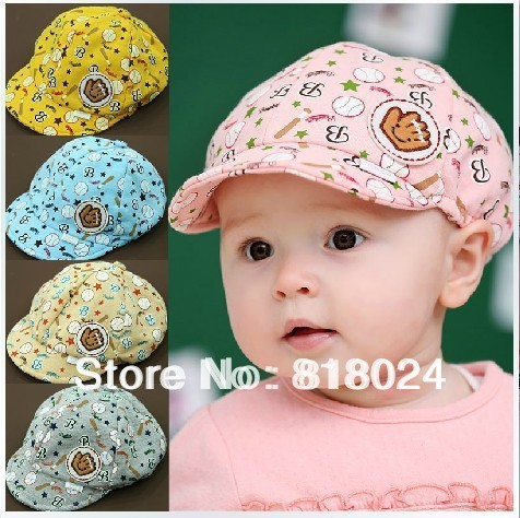 Hot sale! Retail,1piece! 2014 New spring and summer cute kid hat,baby baseball cap,infant cricket-cap for 3-24month 5 Colors