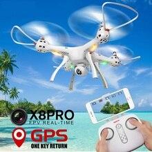 Besar profesi RC Quadcopter X8PRO X8 PRO 50 cm Ketinggian terus GPS posisi WIFI FPV RC DRONE Dengan 720 P HD Kamera vs B6 B2w