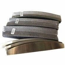 Lima per unghie in metallo 3 pezzi con 3set (150 pezzi) cuscinetti rimovibili durevole sostituzione della lima per unghie cuscinetti in carta vetrata lima per unghie a forma di mezzaluna