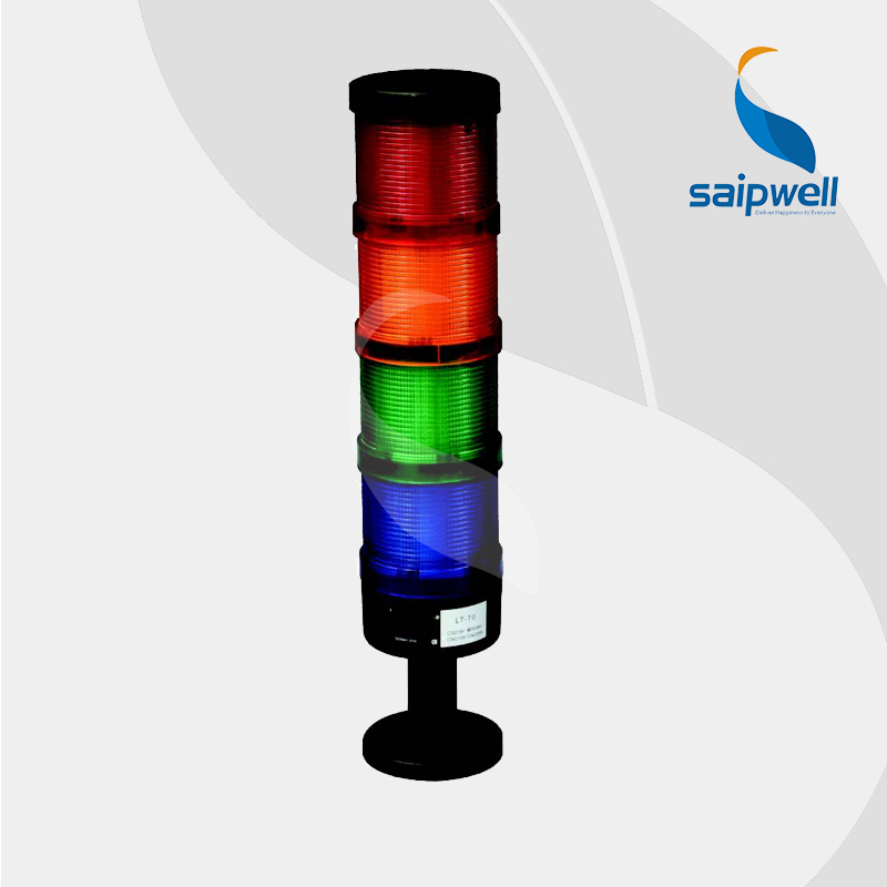 8W 12/24/110/220V DC  4 layer  LED  Signal Tower Lamp /  Industrial ABS Steady Light  Warning Light (LT-70-4) lta 205j 2 dc12v 2 layer tower light signals bulb warning lamp alarm 90db red green u bottom