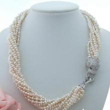 """Красивая 2"""" 7 ряд белый жемчуг Цепочки и ожерелья"""