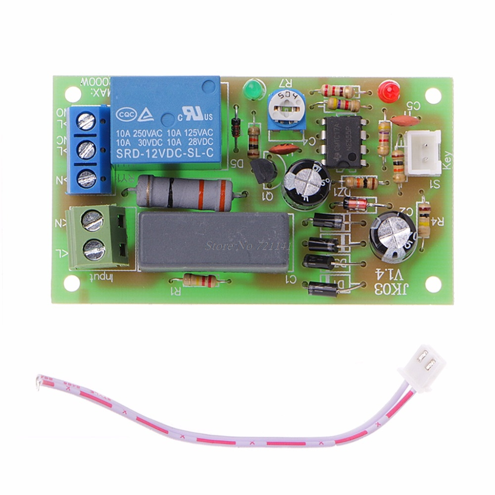 Ac 220v Trigger Delay Switch Turn On Off Board Timer Relay Module Plc Adjustable Integrated