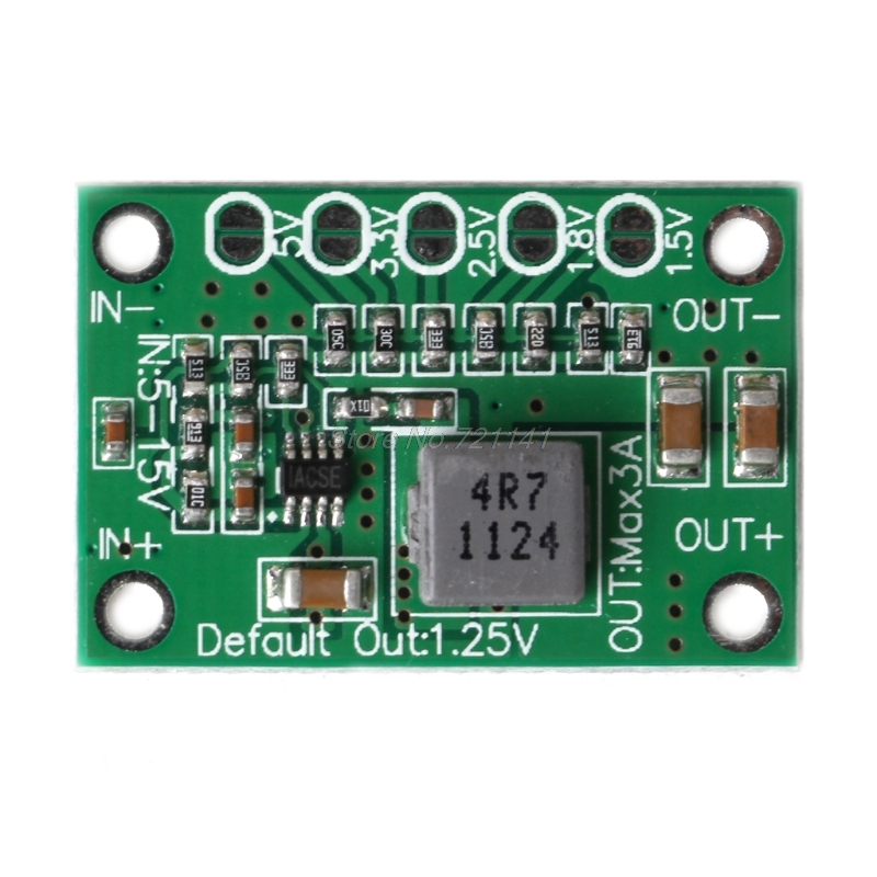 DC Buck Step Down Power Converter Board 5-16V To 1.25V 1.5V 1.8V 2.5V 3.3V 5V 3A image