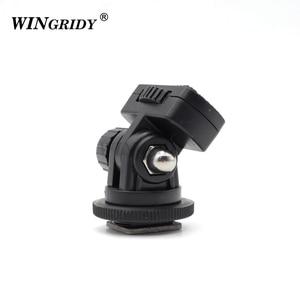 """Image 4 - Винтовое крепление WINGRIDY Professional 1/4 """", адаптер для горячего башмака, регулируемый угол для DSLR камеры, Canon, Nikon, светодиодный светильник, монитор"""