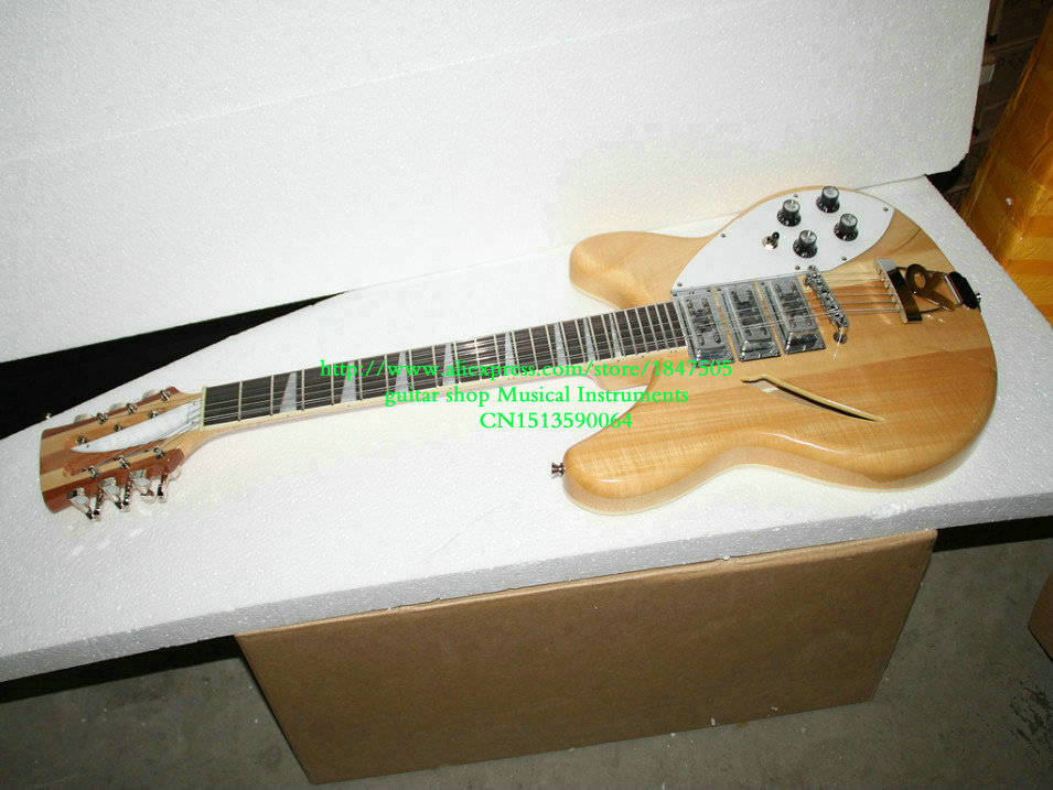 12 strings Natural 3 pickups 325 330 Electric Guitar New Arrival Free Shipping forestwind new arrival hot selling junior standard style pickups electric guitar 2 pic free shipping