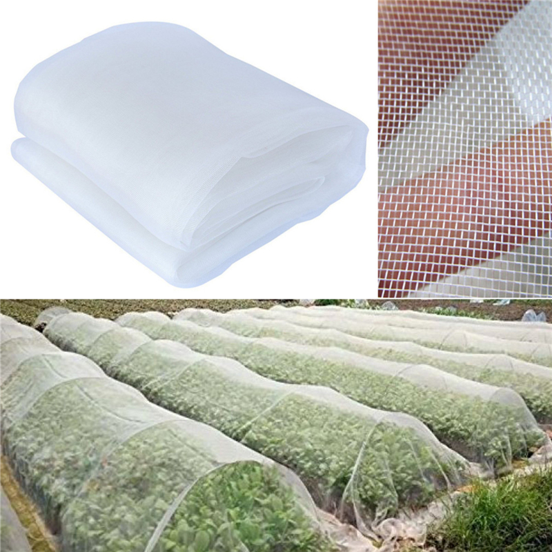 2X5M Protect Planter Insect Bird Net White Mosquito Netting Bug Hunting Barrier Mesh Net Garden Orchard Pest Control Tools