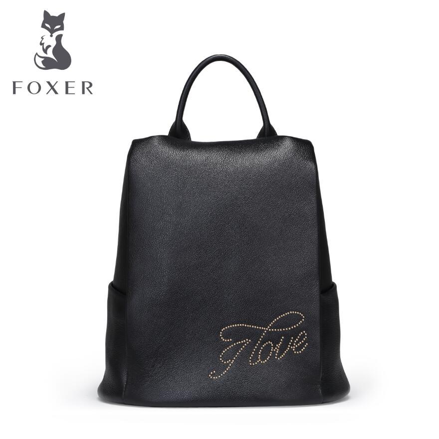 Women bag 2017 New FOXER brand women  leather b fashion bag quality women leather backpack women bag 2016 new foxer brand women genuine leather backpack fashion quality women cowhide leisure wild student backpack