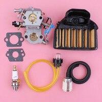 Carburetor Carb For Husqvarna 455 E Rancher 460 Air Fuel Filter Line Hose Primer Bulb Gasket Kit Chainsaw Spare Part