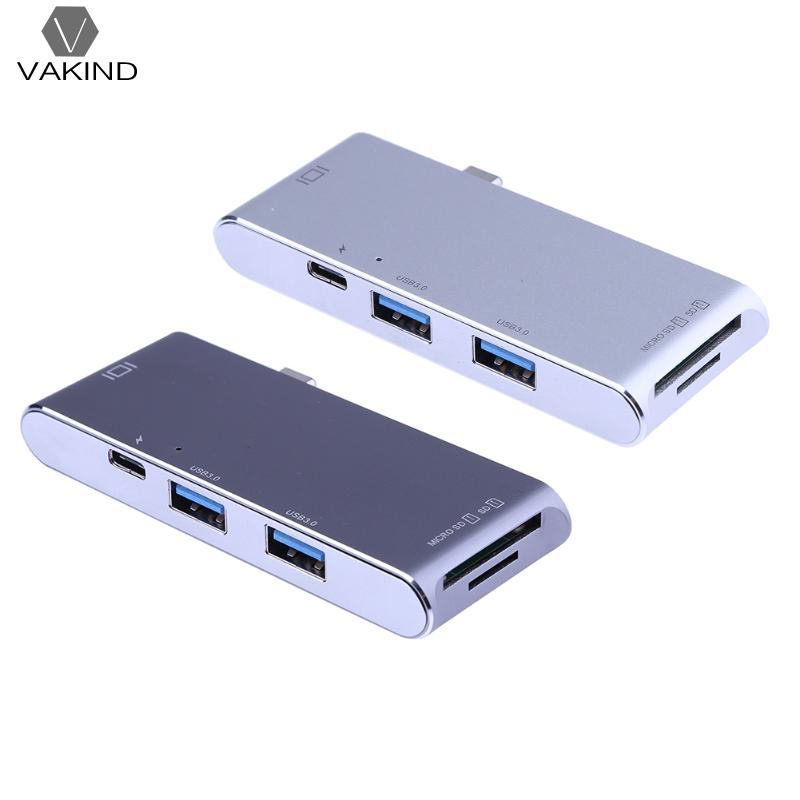 USB-C Type-c 3.1 à 2 USB 3.0 HUB Splitter SD/TF Carte lecteur w/4 K HDMI PD De Charge Port Multifonction En Alliage D'aluminium Lecteur De Cartes