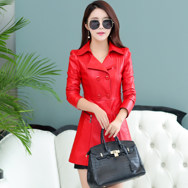 Leather Jackets Turkey Spring 2017 New Women S Leather Girls Long Slim Small Leather Motorcycle Pu