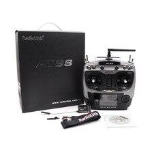 Radiolink AT9S 2.4G 10CH Remote Control AT9 dengan R9DS DSSS FHSS Pemancar Kontroler S-BUS Penerima untuk RC Drone Quadcopter