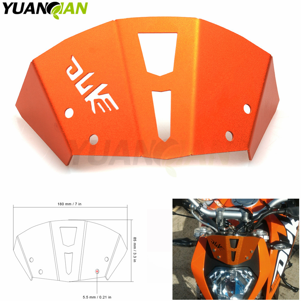 Hot sale Orange Color Motorcycle CNC Windshield Windscreen For KTM Duke 125 200 390 2013-2016 Duke dirt bike FOR KTM LOGO for ktm logo 125 200 390 690 duke rc 200 390 motorcycle accessories cnc engine oil filter cover cap