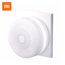 Xiaomi MIJIA Upgraded ZigBee Version Gateway Smart Home Kit Multifunctional Hub Remote Controller Centor Support Yeelight Aqara updated version xiaomi mijia smart multifunctional gateway 2 wifi remote center control 16 million rgb lights smart home