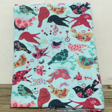 2014 NEW Upset polyester cotton mix Colour bird Cartoon in Europe canvas DIY Sewing Fabric/Sofa cloth/tablecloth 100X145CM/SETS