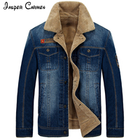 New Arrival AFS JEEP Men S Winter Denim Jacket 2016 Casual Denim Jacket Fashion Men S