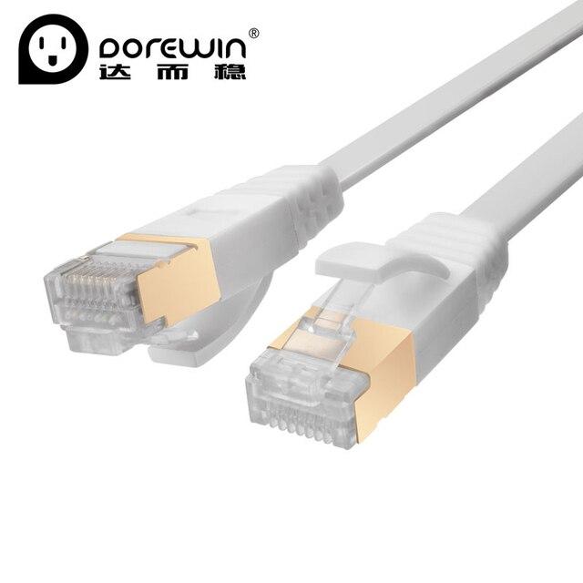 Dorewin Cat7สายอีเธอร์เน็ตRJ45สายเคเบิลเครือข่ายSTP 1เมตร1.5เมตร2เมตร3เมตร5เมตรสายLanสำหรับคอมพิวเตอร์เราเตอร์แล็ปท็อปเครื่องคอมพิวเตอร์เครือข่ายสถานี