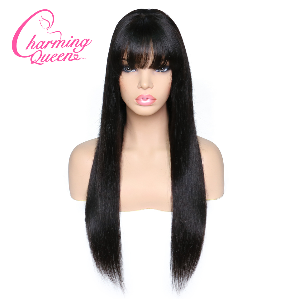 Lace Front Human Hair Wigs For Black Women Straight Brazilian Remy Hair Glueless Lace Wigs With