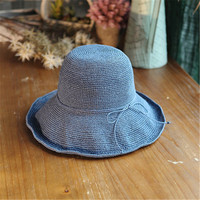 2018 summer New Women's Hollow Crochet Hats Dome Summer Mesh For Women Straw Hat Foldable Sun Hat Beach Hat Fashio RR