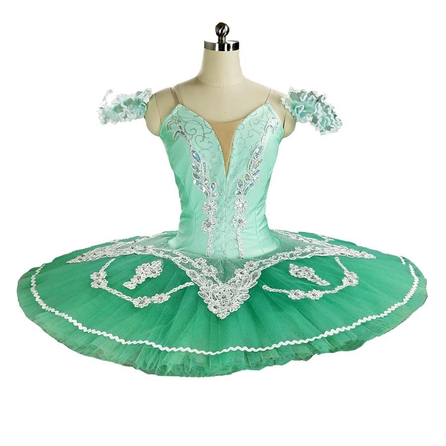 Green ballet tutu Professional Ballet Tutu Classical Pancake Platter Tutu Skirt Nutcracker Ballet Stage Costume Esmeralda tutu