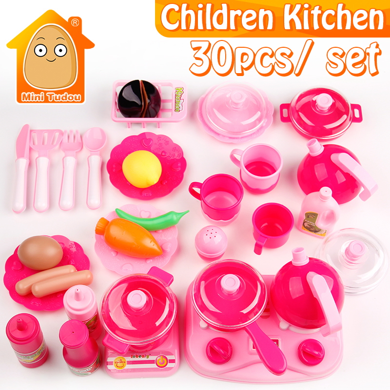 Kids Play House Toys Girl Light Music Tableware Sets Baby Toys ...