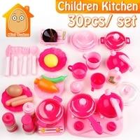 Crianças Conjunto de Cozinha Pretend Play Corte Utensílios de Brinquedo 9-30 PCS de Frutas Legumes De Plástico Crianças Eduacation Cozinhar Alimentos Jogo