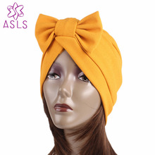 Новая мода большая повязка на голову женские аксессуары для волос Шляпы Модная шапка шарф для головы Кепка chemo женская шляпа с бантиком для дам