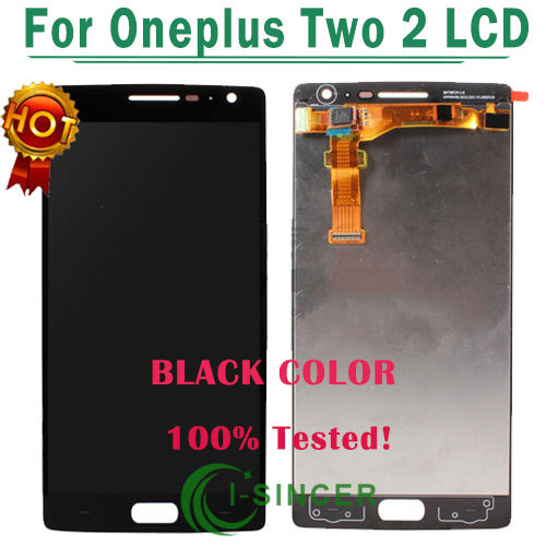 1/PCS For oneplus two LCD screen Display Touch Screen Digitizer Assembly oneplus 2 lcd screen black colour