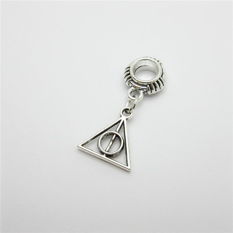 Ancient silver 20pcs peace charms big hole loose bead fit Pandora bracelet pendants DIY