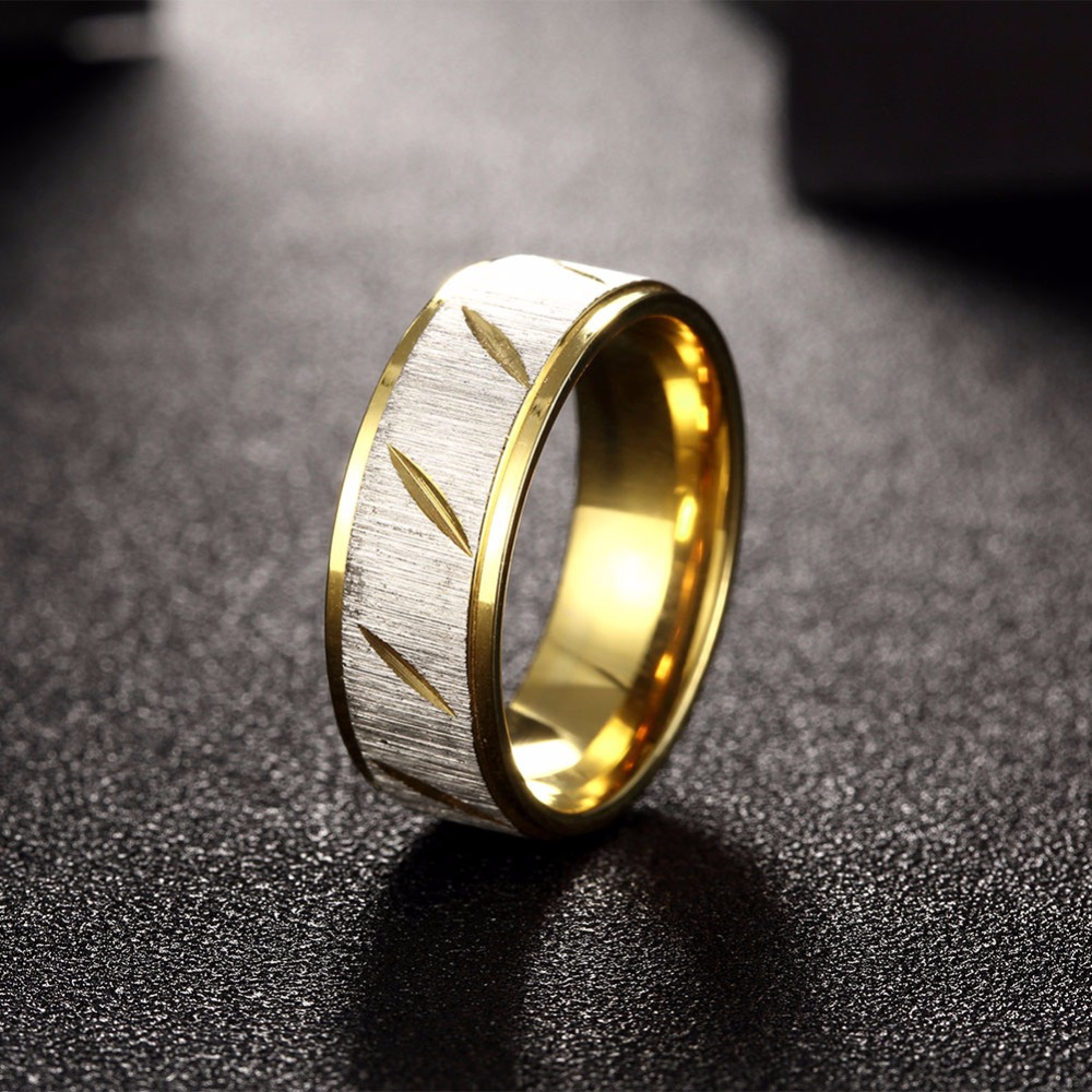 Hot is not allergic to deformation of titanium steel ornaments twill couple on the ring wide men male ring free shipping