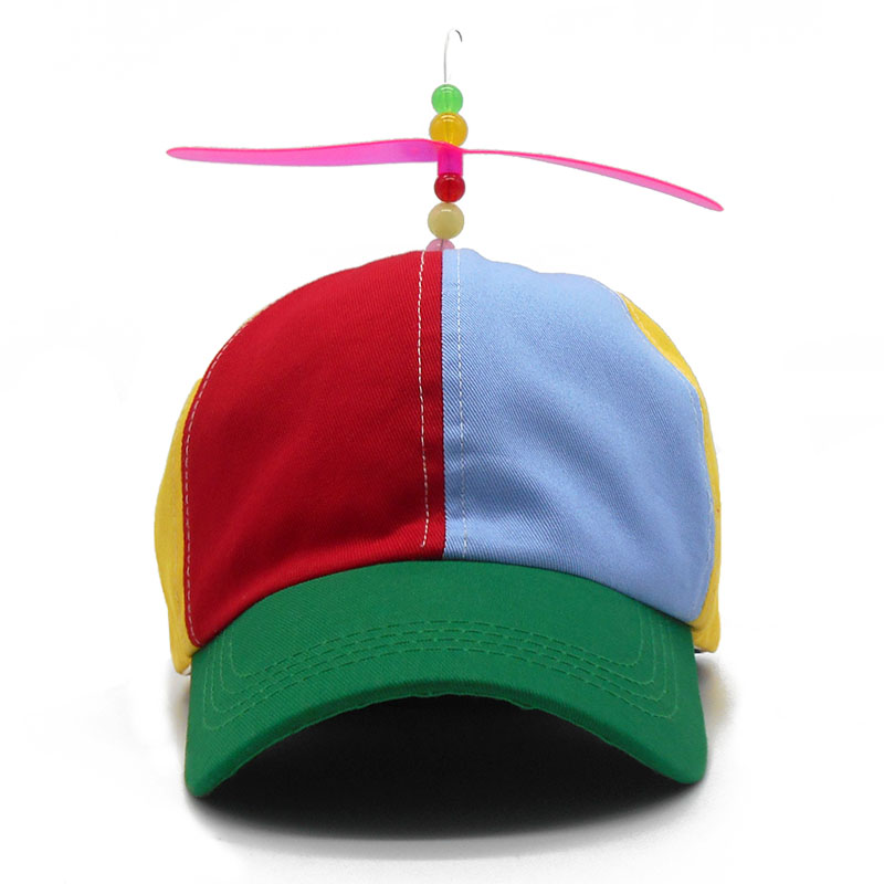 bcbf2a820833c Funny Adult Kids Propeller Baseball Caps Colorful Patchwork Brand Hat  Propeller Bamboo Dragonfly Children Boys Girls Snapback-in Baseball Caps  from Apparel ...