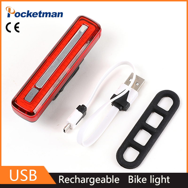 z50 Ultra Bright Bike Light USB Rechargeable Bicycle Tail Light Red High Intensity Rear Easy To Install for Cycling Flashlight