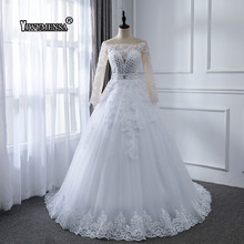 yiwumensa Ball Gown 1 Wedding Dress 2019 Detachable train