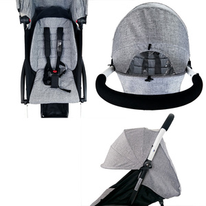 Image 5 - Stroller Sun Cover And Cushion Oxford Cloth Back Zipper Pocket Baby Stroller Accessories For Yoya Baby Throne Babytime Stroller
