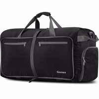 Gonex 60L Reise Gepäck Tasche Männer Frauen 210D Nylon Duffle Taschen Faltbare Ultraleicht Handtasche für Urlaub Business Reise 40-150L