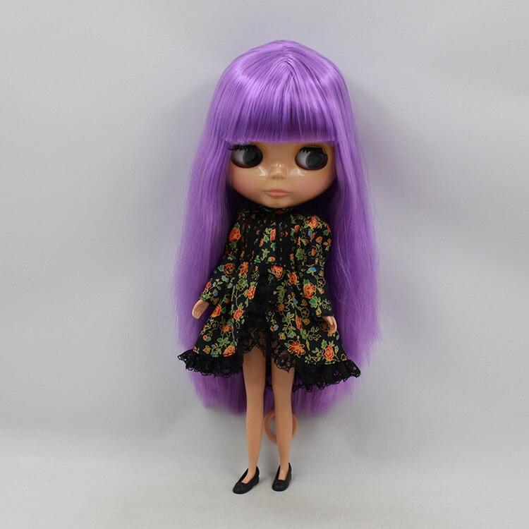 ФОТО Blyth nude doll birthday dolls collectibles purple long wig with bangs 30cm fashion doll Wholesale blyth dolls for sale